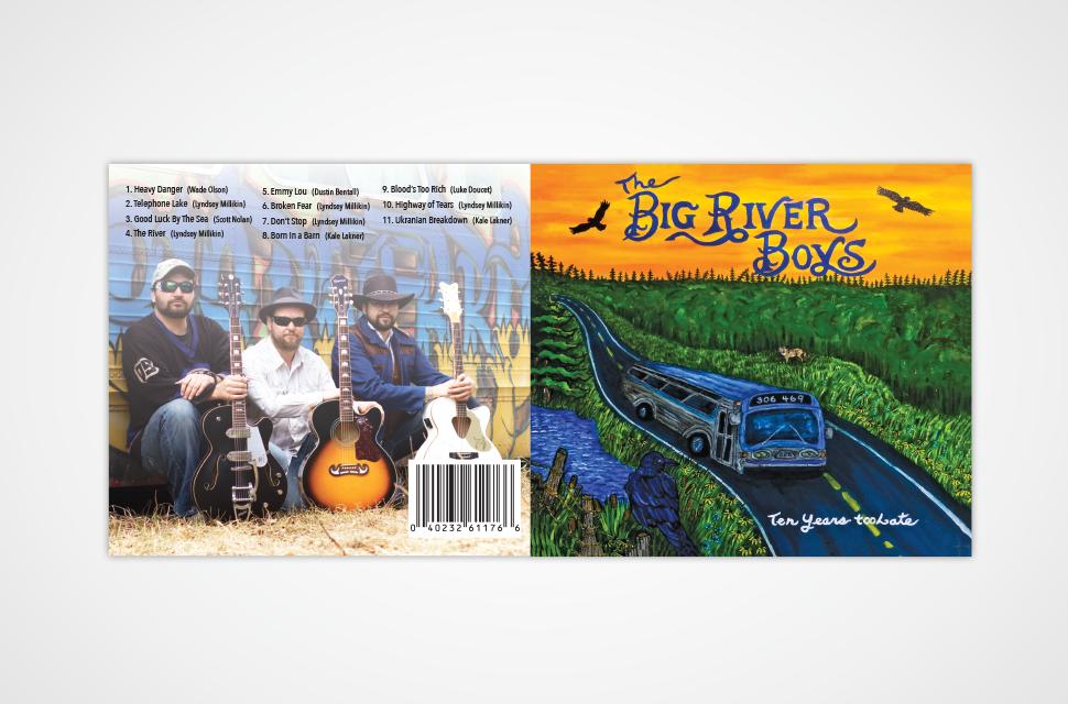 Big River Boys CD Packaging Design