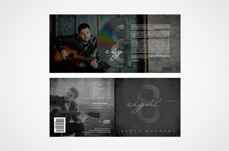 Brock Andrews CD Packaging Design