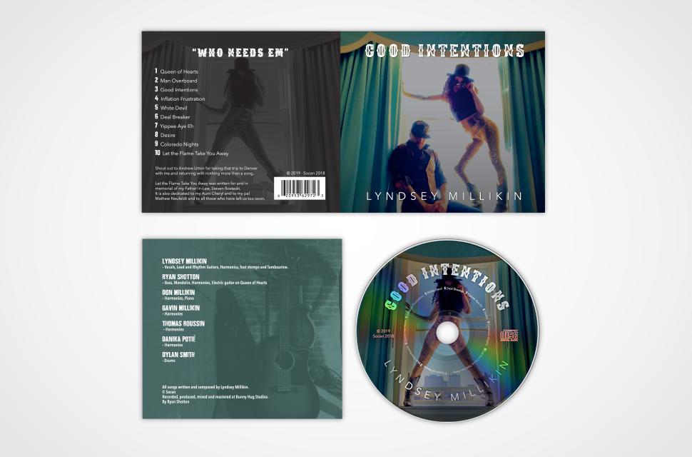 Lynsey MIllikin CD Packaging Design