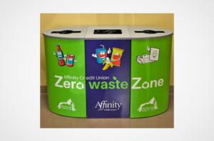 Saskatoon Zoo Affinity CU Garbage can