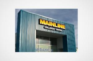 Mainline Collision Centre Illuminated Shaped Sign