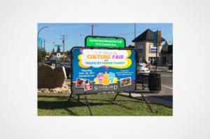 Sutherland Culture Fair Portable sign