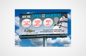 The Willows Golf Course Billboard Design