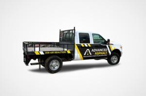 Advanced Asphalt Truck Wrap