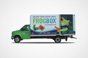 Frog Box Moving Van Wrap