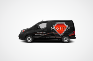 Matrix Security Van Wrap Design