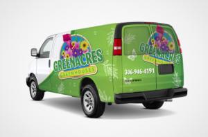 Green Acres Van Wrap Design