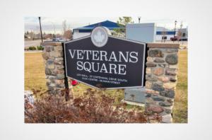 Martensville Veterans Square Monument Sign