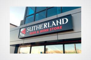 Signage - Sutherland BW