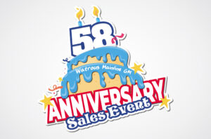 Watrous Mainline Anniversary Logo Design
