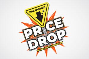 Watrous Mainline GM Pre-Owned Price-Drop Logo Design