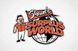 Shane's Surplus World Logo Design
