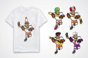 Hockey T-shirt Cartoons
